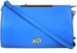 AQ Women Casual Blue PU Sling Bag