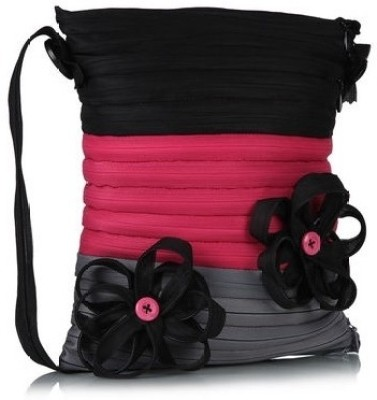 Use Me Women Casual Grey, Black, Pink Polyester Sling Bag