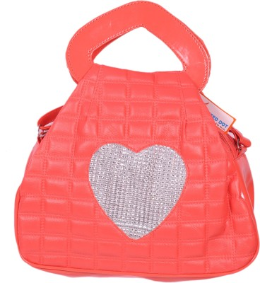 Speed Dot Women Evening/Party Orange Leatherette Sling Bag