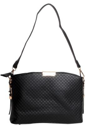 Reedra Women Black PU Sling Bag