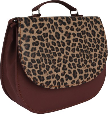 PST Girls, Women Brown, Multicolor PU Sling Bag