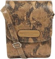 Classy Travel Stores Men & Women Beige Genuine Leather Sling Bag