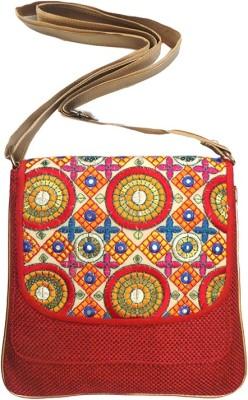 Bhamini Women Red Jute Sling Bag
