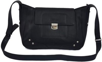 Rivory Bros Women, Girls Black Genuine Leather Sling Bag