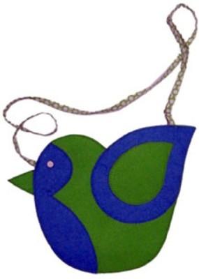 Always Kids Girls Casual, Evening/Party Blue, Green Felt Sling Bag