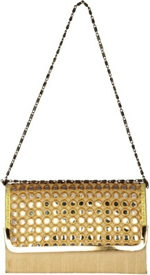 Lizzie Women Gold PU Sling Bag