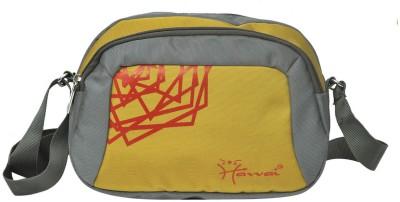 Hawai Men, Women Grey, Yellow Polyester Sling Bag