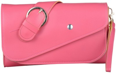 JAGADHARTI Women Pink Velvet Hand-held Bag