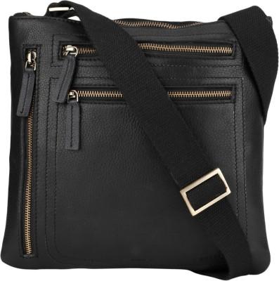NEHANCHAL Women Black Genuine Leather Sling Bag
