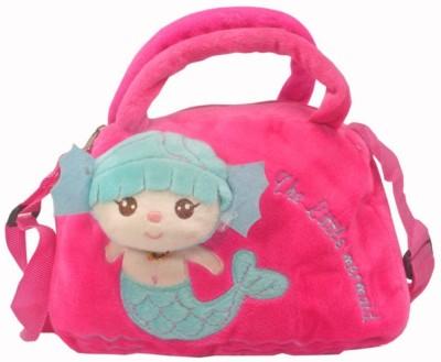 JM Girls Formal Pink Velvet Sling Bag