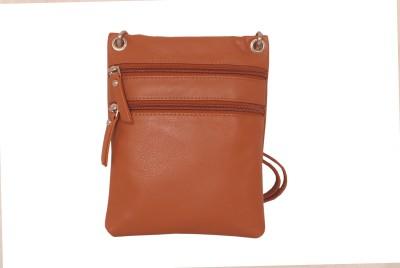 Manera Women Casual Tan Genuine Leather Sling Bag