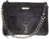 Cascara Women Black Genuine Leather Slin...