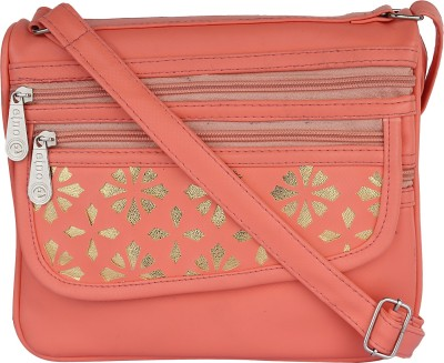 PST Girls, Women Orange PU Sling Bag