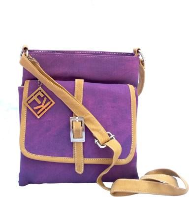 Fashion Knockout Girls, Women Purple Leatherette Sling Bag
