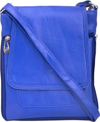 SkyWays Men, Boys, Girls, Women Blue Leatherette Sling Bag