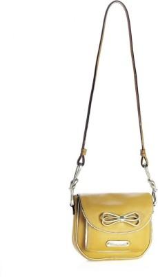 Dhruva Women Casual Tan Genuine Leather Sling Bag