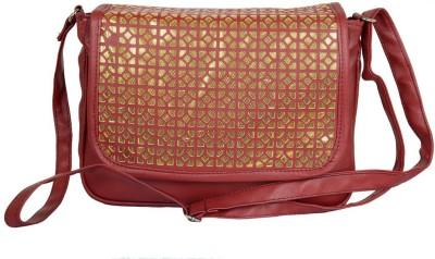 Murcia Women Maroon PU Sling Bag