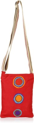 Anekaant Women Red Canvas Sling Bag