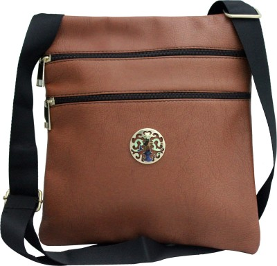 ShoppingFeast Women Brown Flex Sling Bag