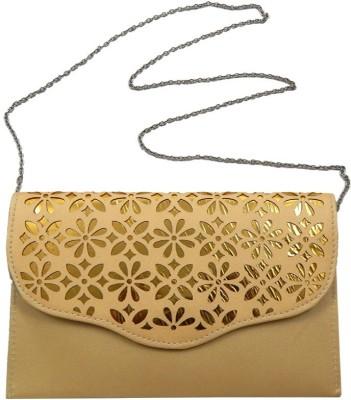mezzo99 Girls, Women Beige PU Sling Bag