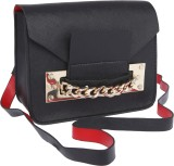 Fur Jaden Women Black PU Sling Bag