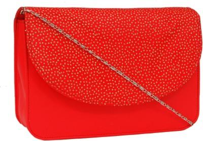 Borse Women Red PU Sling Bag