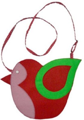 Always Kids Girls Casual, Evening/Party Red, Pink Felt Sling Bag