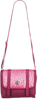 Fristo Women Casual Purple PU Sling Bag