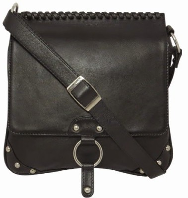 Chimera Leather Women Casual, Formal Black Genuine Leather Sling Bag