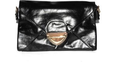 ShopperzGuide Girls, Women Black Leatherette Sling Bag