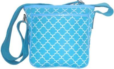 Needlecrest Men, Women Blue Cotton Sling Bag