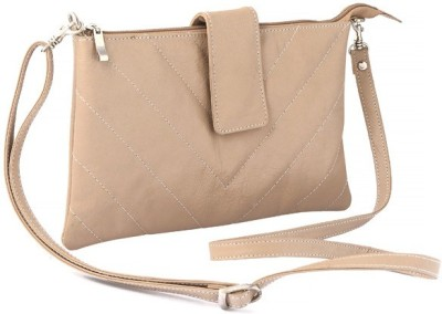 Rivory Bros Women Casual White Genuine Leather Sling Bag