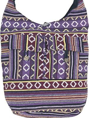 Jaipuri Haat Girls Purple Cotton Sling Bag