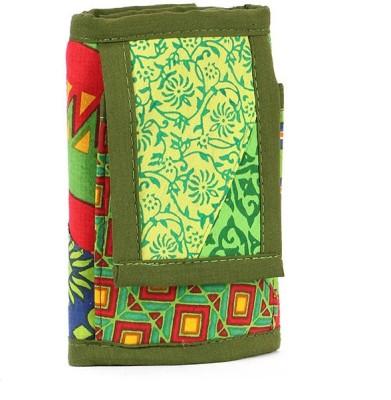 Cute Things Girls, Women Green Cotton Sling Bag