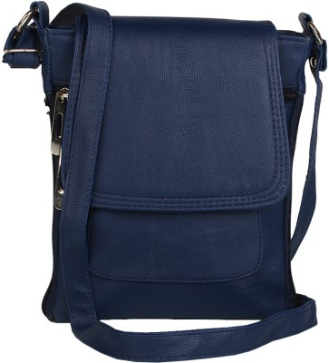 Alessia Women Casual Blue Leatherette Sling Bag