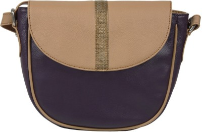 Lapis O Lupo Women Purple PU Sling Bag