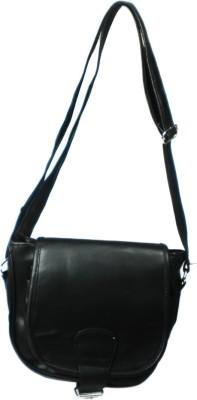 Smariddhimart Girls Black Leatherette Sling Bag