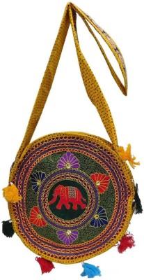 Laviva Women Multicolor Cotton Sling Bag
