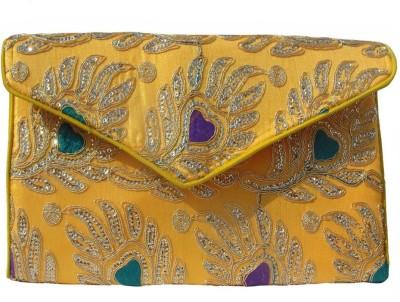 ALAR Women, Girls Yellow Silk Sling Bag