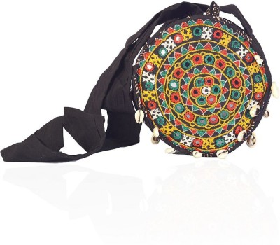 Great Art Women Multicolor Cotton Sling Bag