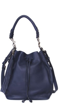 Romari Women Blue Genuine Leather Hand-held Bag