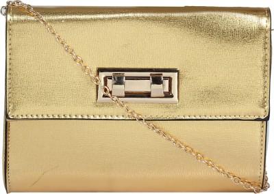 ToniQ Girls, Women Evening/Party, Festive Gold PU Sling Bag