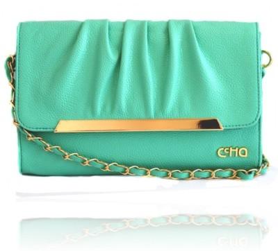Ccha Girls Green PU Sling Bag