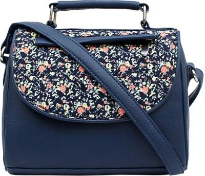 Borsavela Women Casual Blue PU Sling Bag