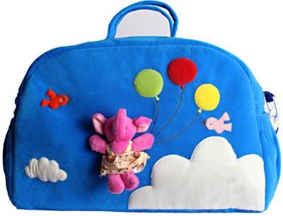 KIDZVILLA Women Blue Cotton Sling Bag