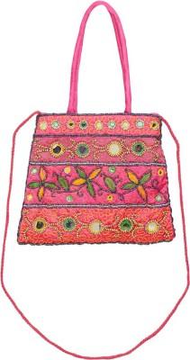 VERMELLO Girls, Women Pink Silk Sling Bag