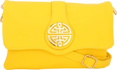 Naitik Products Women Casual Yellow Leatherette Sling Bag