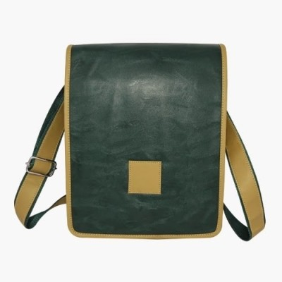 Chimera Leather Men, Women Casual, Formal Green Leatherette Sling Bag