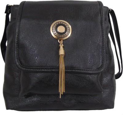 Estoss Women Black PU Sling Bag