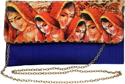 Decot Paradise Women Blue Silk Sling Bag